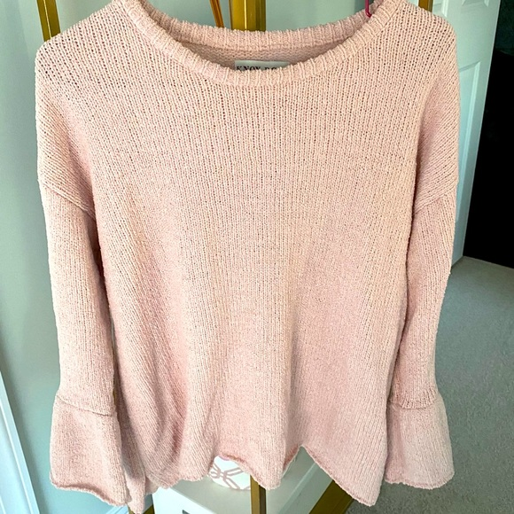 The coziest pink sweater